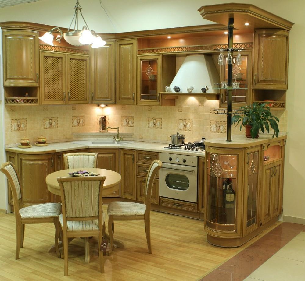 Дорогие и элитные кухни-Кухня из массива «Модель 127»-фото1
