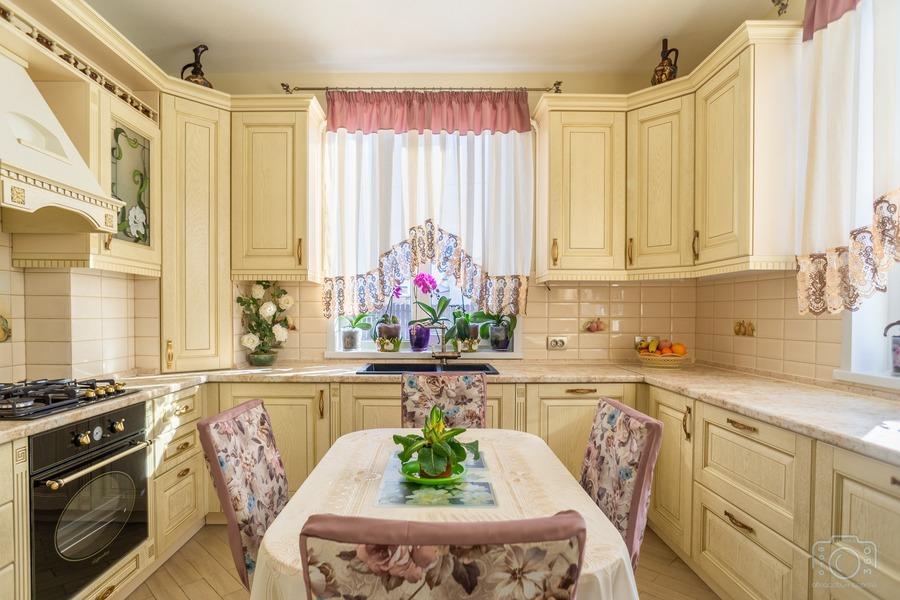 Бежевые кухни-Кухня из шпона «Модель 3»-фото1
