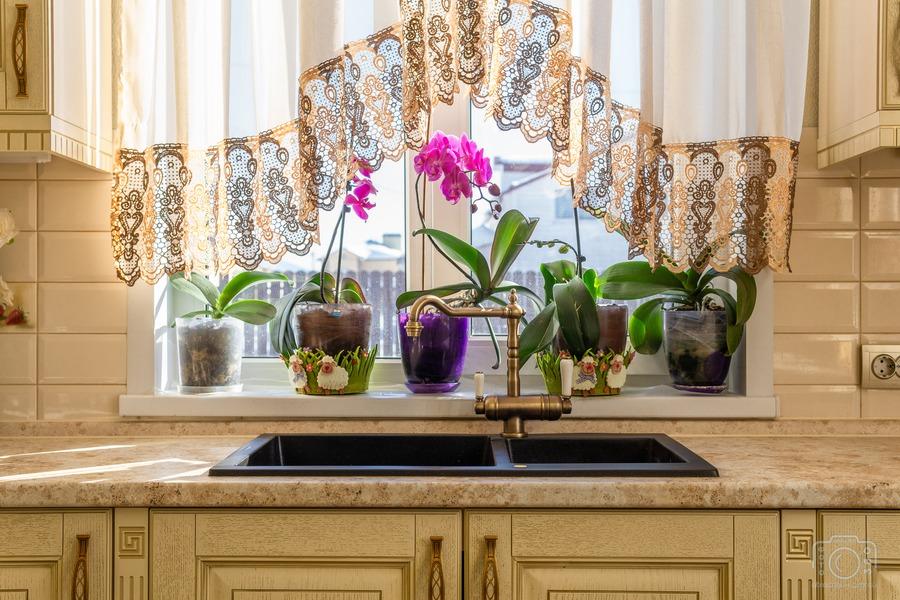 Бежевые кухни-Кухня из шпона «Модель 3»-фото8