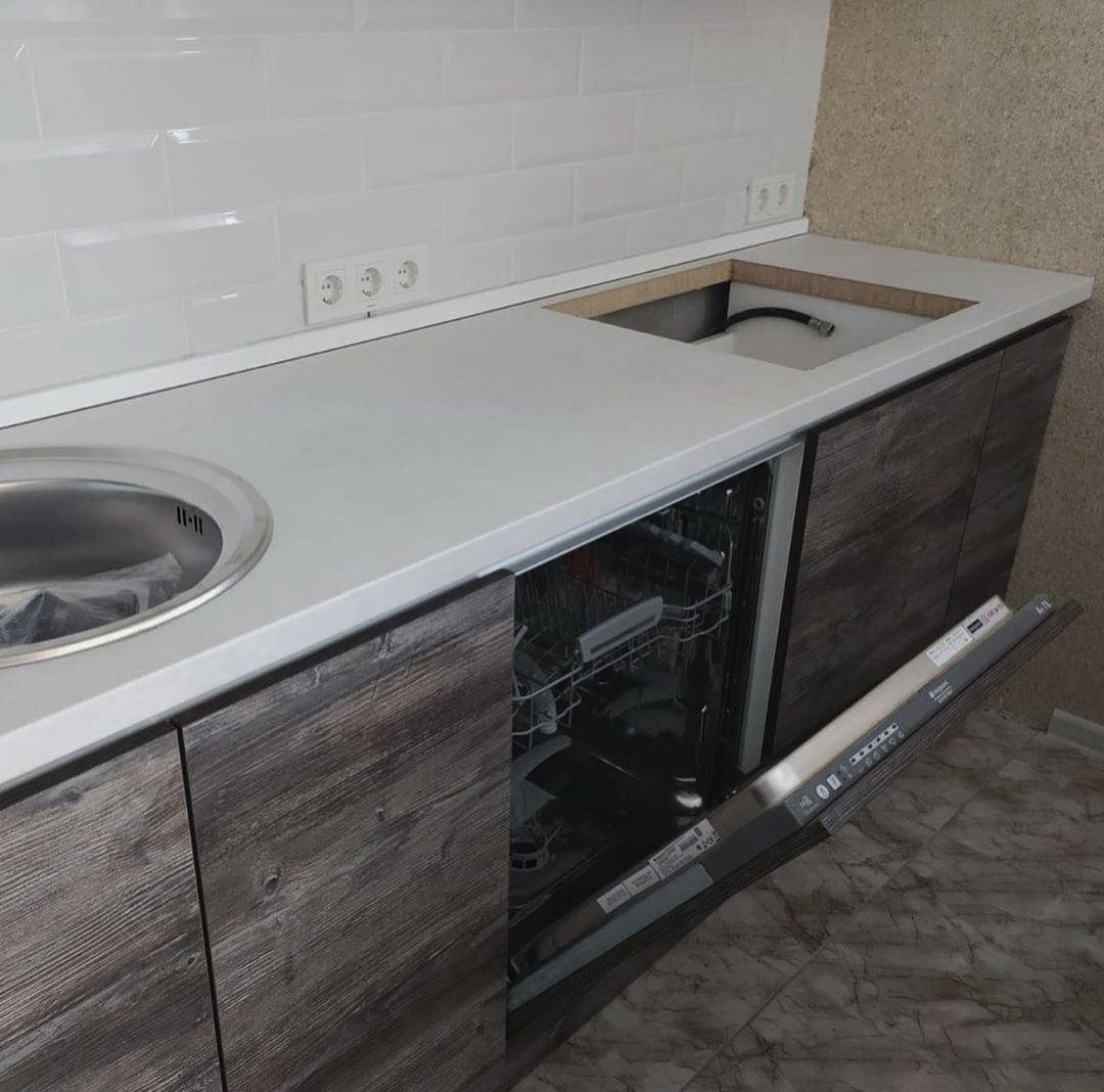 Встроенная кухня-Кухня из ЛДСП «Модель 617»-фото4