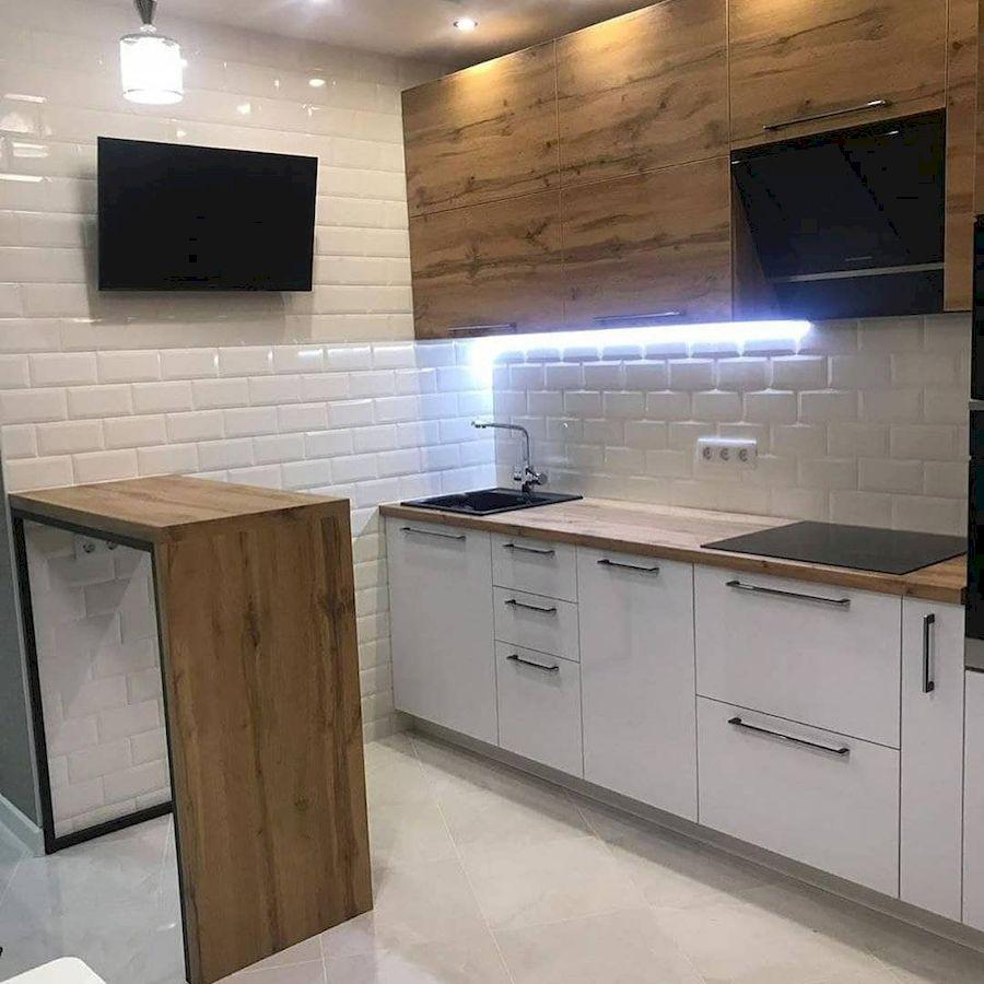 Белый кухонный гарнитур-Кухня из ЛДСП «Модель 638»-фото1