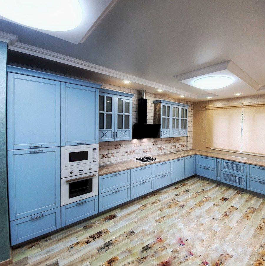 Классические кухни-Кухня МДФ в эмали «Модель 524»-фото2