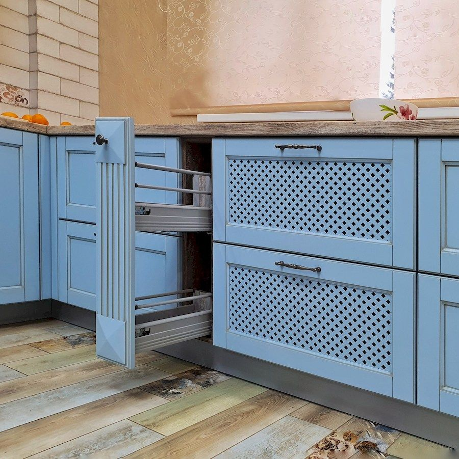 Классические кухни-Кухня МДФ в эмали «Модель 524»-фото8