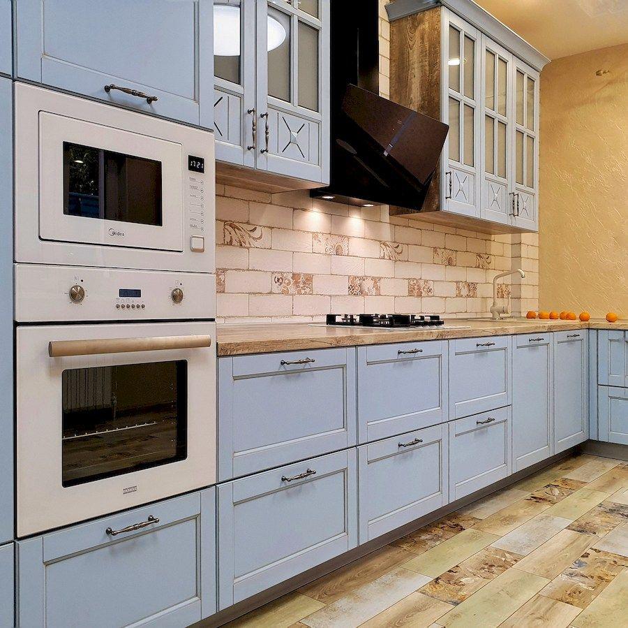 Классические кухни-Кухня МДФ в эмали «Модель 524»-фото4