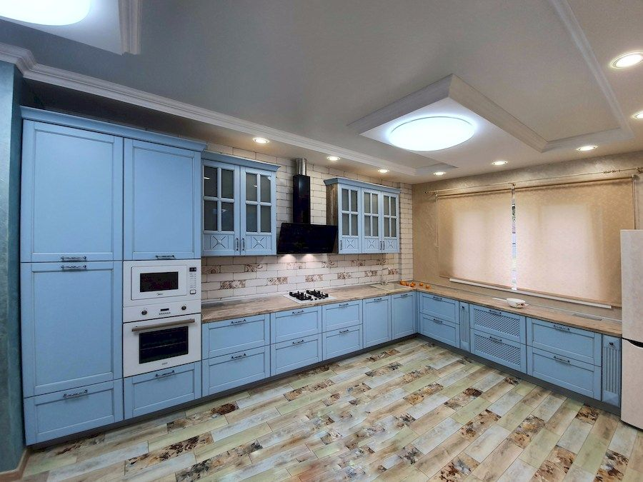Классические кухни-Кухня МДФ в эмали «Модель 524»-фото1