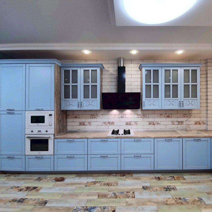 Классические кухни-Кухня МДФ в эмали «Модель 524»-фото3