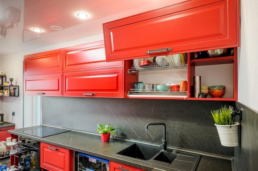 Классические кухни-Кухня МДФ в эмали «Модель 600»-фото4