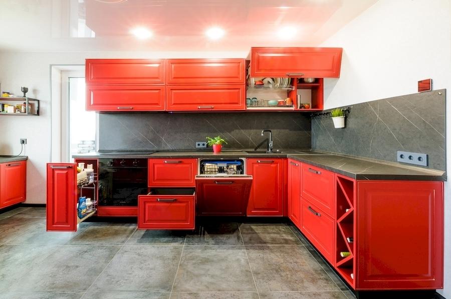 Классические кухни-Кухня МДФ в эмали «Модель 600»-фото3