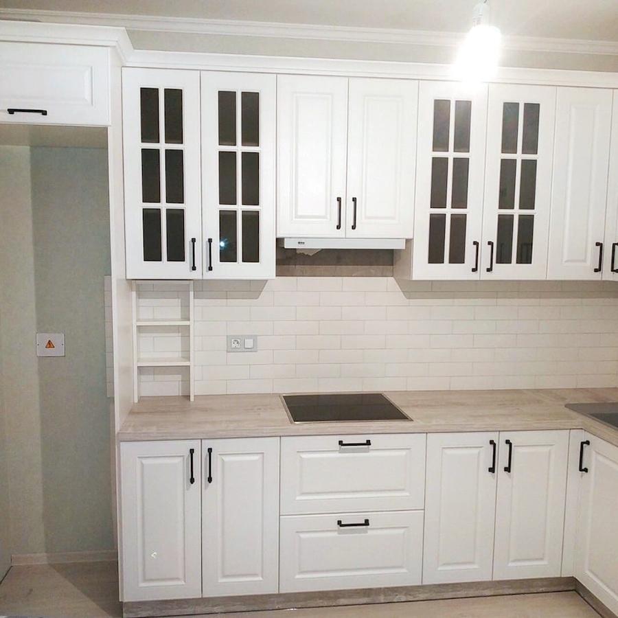 Белый кухонный гарнитур-Кухня МДФ в ПВХ «Модель 598»-фото4