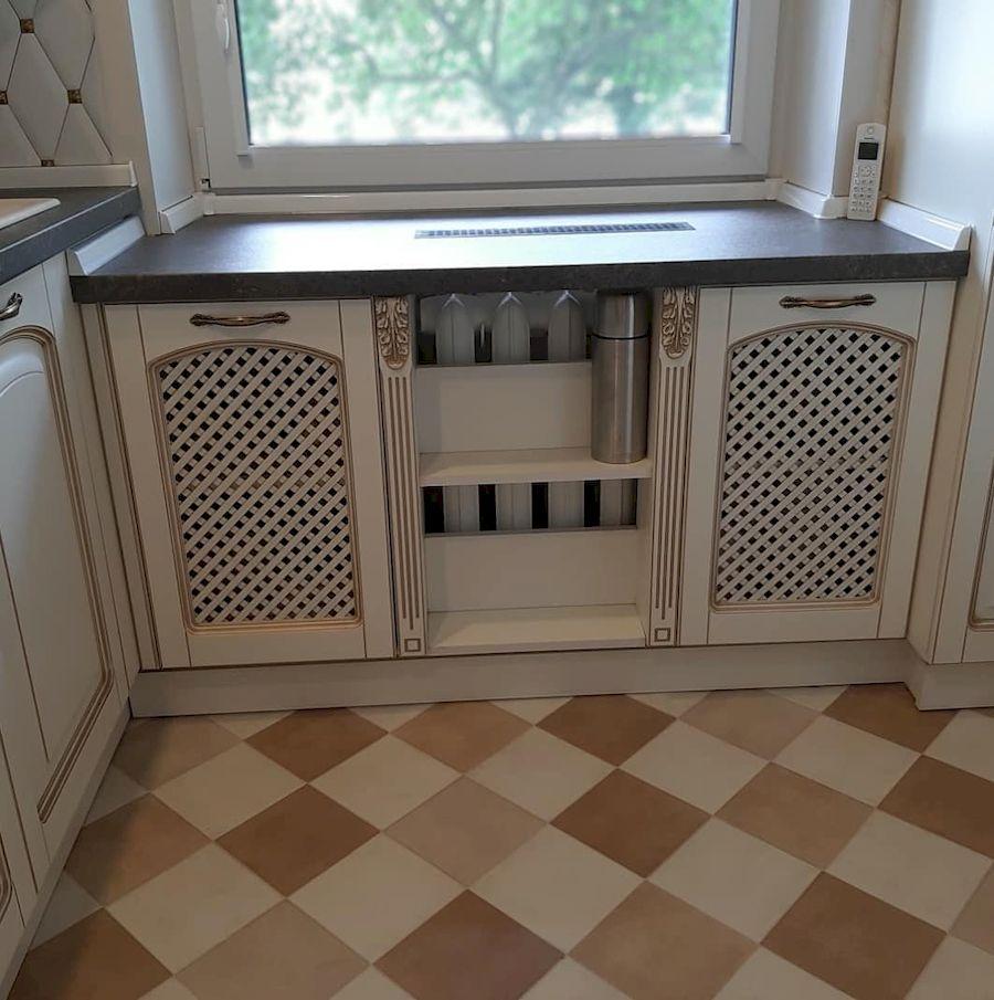 Белый кухонный гарнитур-Кухня МДФ в эмали «Модель 656»-фото4