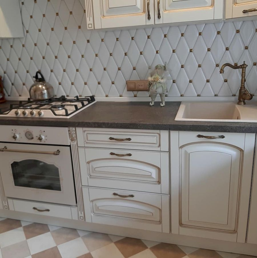 Белый кухонный гарнитур-Кухня МДФ в эмали «Модель 656»-фото3