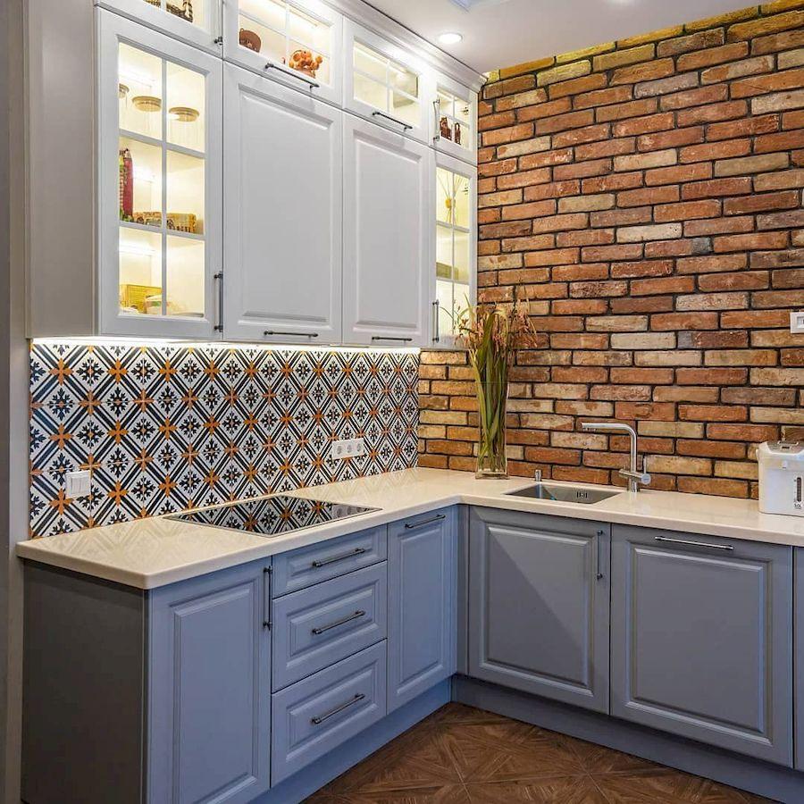 Классические кухни-Кухня МДФ в эмали «Модель 642»-фото2