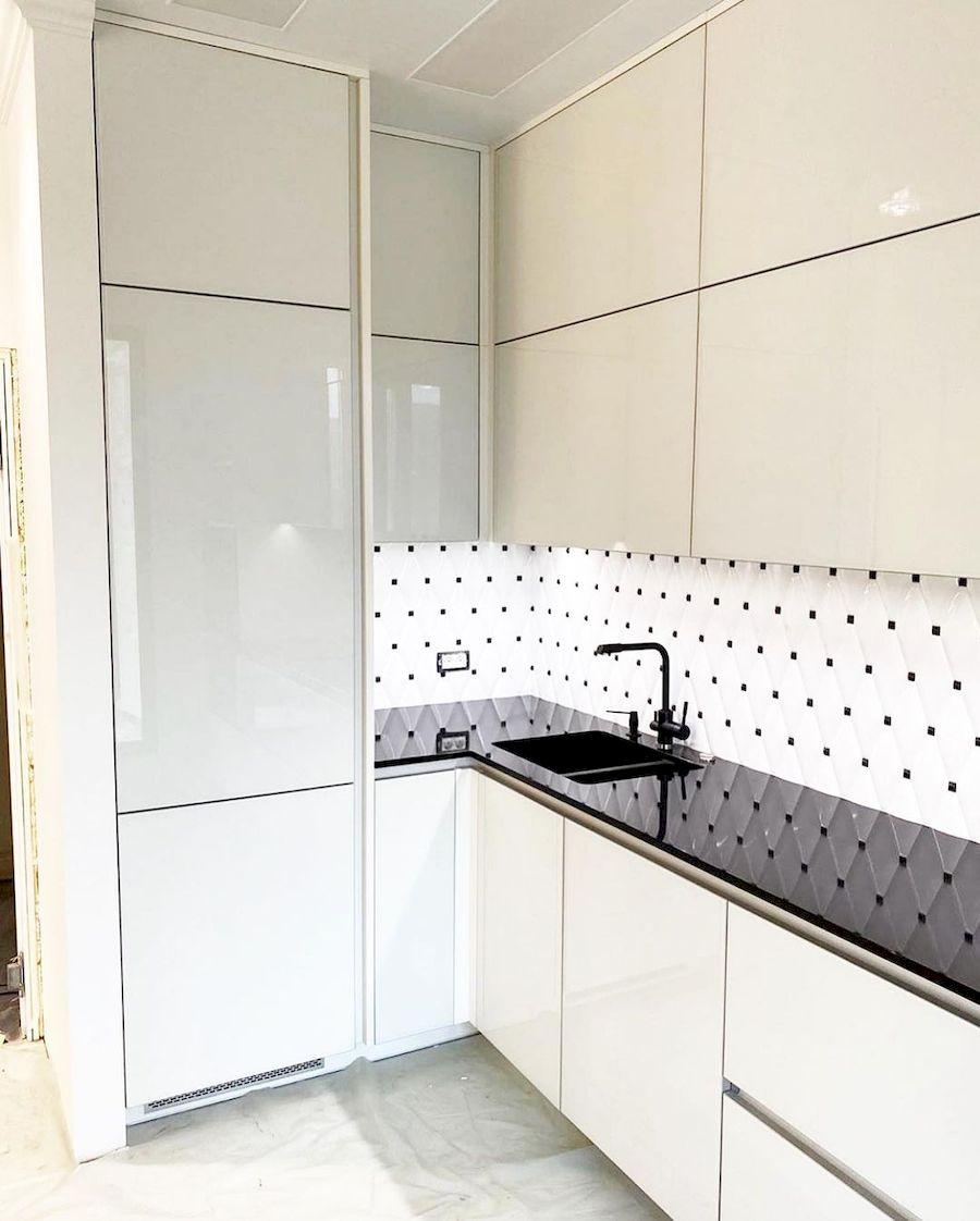 Акриловые кухни-Кухня из акрила «Модель 664»-фото1