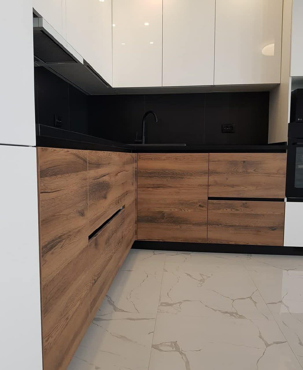 Белый кухонный гарнитур-Кухня МДФ в эмали «Модель 629»-фото4