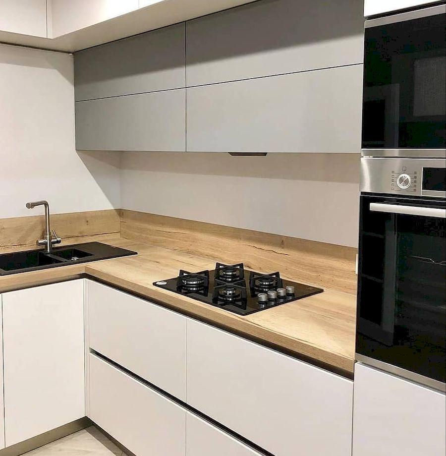 Белый кухонный гарнитур-Кухня МДФ в ПВХ «Модель 666»-фото2