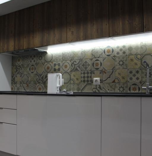 Белый кухонный гарнитур-Кухня из пластика «Модель 432»-фото2