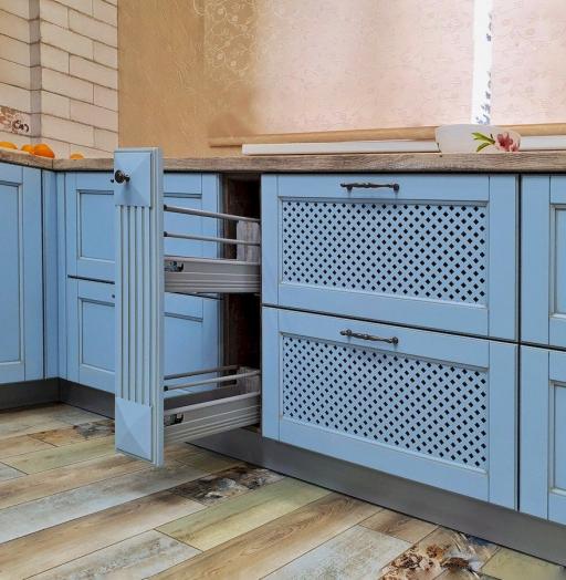 Классические кухни-Кухня МДФ в эмали «Модель 524»-фото11