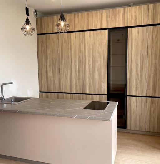 Встроенная кухня-Кухня из пластика «Модель 566»-фото4
