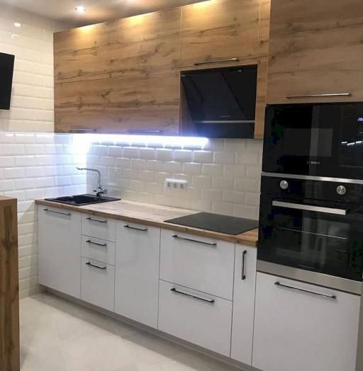 Белый кухонный гарнитур-Кухня из ЛДСП «Модель 638»-фото4